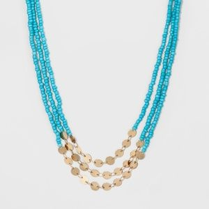 Turquoise Beaded Layered Necklace by baublebar